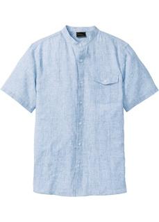 Рубашка с воротником-стойкой, лен Bonprix