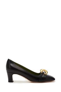 Черные туфли с полумесяцами GG Gucci
