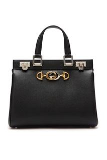 Черная сумка с ручками Zumi Gucci
