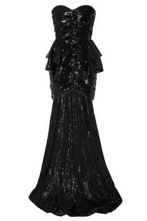 Асимметричное коктейльное платье с пайетками Attico