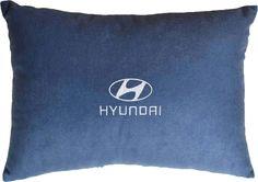 "Подушка декоративная Auto Premium ""Hyundai"", цвет: синий, 26 х 36 см"
