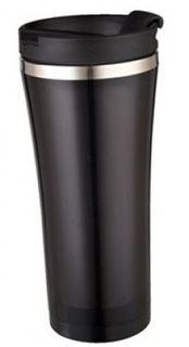 Термокружка Bekker Classic, цвет: черный, 0,45 л