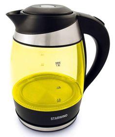 Электрический чайник Starwind SKG2215, Yellow Black