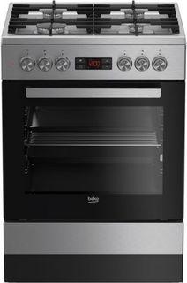 Кухонная плита Beko FSM 62330 DXT, серебристый