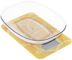 """Весы кухонные """"Mayer & Bosh"""", с чашей, цвет: оранжевый, белый, до 5 кг. 10959"""