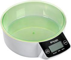 """Весы кухонные """"Eltron"""", электронные, с чашей, цвет: зеленый, белый, до 5 кг. 9257EL"""