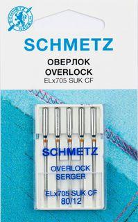 """Иглы для бытовых швейных машин """"Schmetz"""", для джерси, №80, 5 шт"""