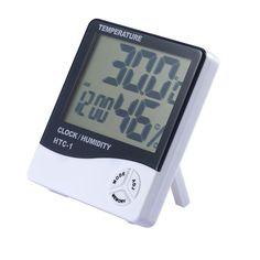 Погодная станция TopSeller Электронная метеостанция с термометром, гигрометром и будильником, черный, белый