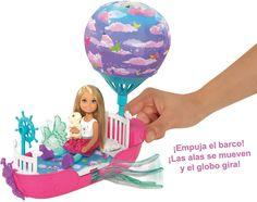 Barbie Игровой набор с мини-куклой Волшебная лодка