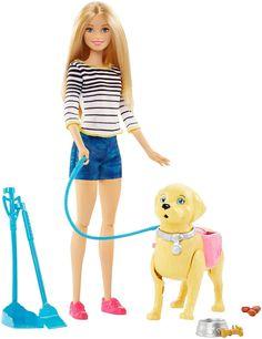Barbie Игровой набор с куклой Прогулка с питомцем