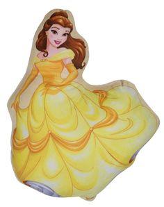 """Подушка для обнимания Disney """"Принцесса Дисней Белль"""", цвет: желтый, 35 х 37 см. 16247"""
