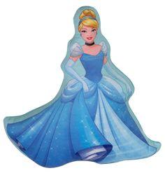 """Подушка для обнимания Disney """"Принцесса Дисней Золушка"""", цвет: голубой, 35 х 37 см. 16248"""
