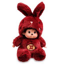 """Мягкая игрушка Lovely Joy """"Малыш в костюме Зайчика. Знак Зодиака - Близнецы, 25444, темно-красный"""