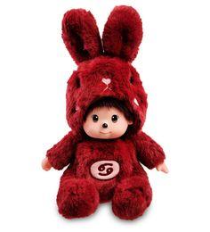 """Мягкая игрушка Lovely Joy """"Малыш в костюме Зайчика. Знак Зодиака - Рак, 25446, темно-красный"""