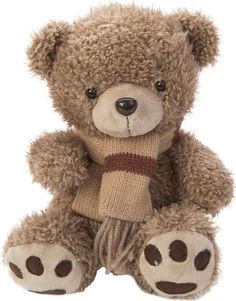 """Игрушка мягкая Fluffy Family """"Мишка с шарфом"""", 681560, коричневый, 20 см"""