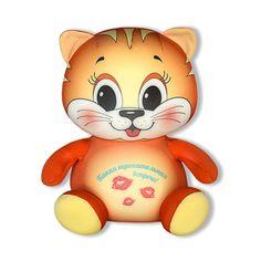 Подушка-игрушка Штучки, к которым тянутся ручки антистресс Трогательные игрушки. Кот, оранжевый