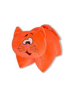 Подушка-игрушка Штучки, к которым тянутся ручки трансформер Кот антистресс, оранжевый