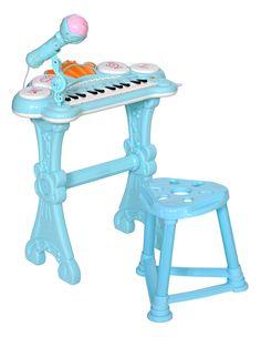 """Музыкальный детский центр Everflo """"Пианино"""", HS0356831, голубой"""