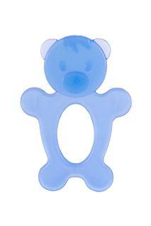 """Массажер силиконовый для десен (прорезыватель зубной) """"Мишка"""", цвет синий, КНОПА Knopa"""