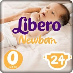 Libero подгузники Newborn Size 0 (<2,5 кг) 24 шт