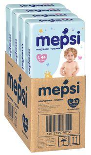 Mepsi Детские подгузники-трусики L 9-16 кг 44 шт 4 упаковки