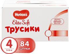Huggies Подгузники-трусики Elite Soft 9-14 кг (размер 4) 84 шт