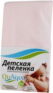 Пеленка QuAqua Caress водонепроницаемая, цвет: розовый, 60 х 70 см