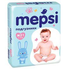 Подгузники MEPSI, 20, M (6-11кг), 21 шт