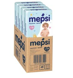 Подгузники-трусики MEPSI детские одноразовые, L 44 шт 4 упак