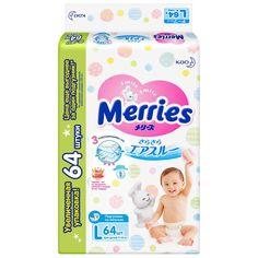 Подгузники Merries L 9-14 (64) белый