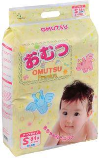 OMUTSU Подгузники детские S (4-8 кг), 84 шт.