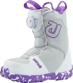 """Ботинки для сноуборда Burton """"Grom Boa"""", цвет: белый, фиолетовый. Длина стельки 21 см"""