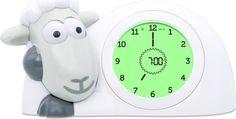 ZAZU Настольные часы детские Ягнёнок Сэм цвет серый
