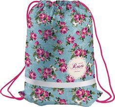 Berlingo Мешок для обуви Roses цвет голубой розовый
