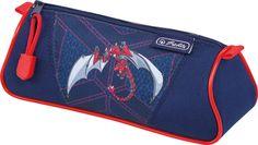 Herlitz Пенал-косметичка TRIANGULAR Red Robo Dragon