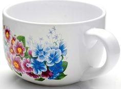 "Супница Loraine ""Сирень"", цвет: белый, синий, розовый, 350 мл"