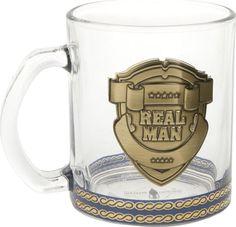 Кружка Polystar Collection Real Man, 5020018, прозрачный, золотой, 335 мл
