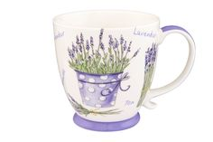 Кружка Elan Gallery Лаванда, белый, фиолетовый