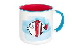 Кружка Elan Gallery Рыбка, белый, красный