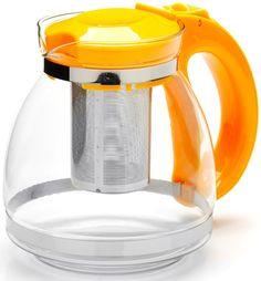 """Чайник заварочный """"Mayer & Boch"""", с фильтром, цвет: желтый, 1,5 л. 26170-2"""