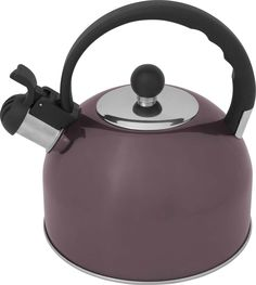 "Чайник Atmosphere ""Provence"", со свистком, цвет: фиолетовый, 2 л"