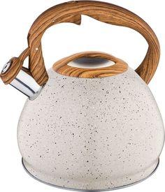 Чайник Agness Арктик, со свистком, 937-812, бежевый, 3 л
