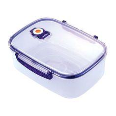 """Контейнер вакуумный для пищевых продуктов """"Bekker"""", цвет: синий, 2,5 л"""