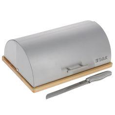 """Хлебница Taller """"Оукли"""", с ножом, 39 см х 28,5 см х 15 см"""