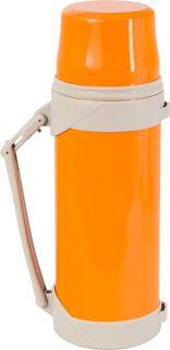 """Термос Indiana """"BSX"""", со складной ручкой, цвет: оранжевый, бежевый, 800 мл"""