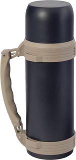 """Термос Indiana """"WD 3605"""", со складной ручкой, цвет: черный, бежевый, 1,2 л"""