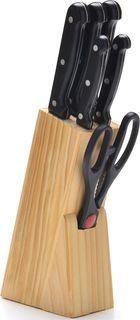 """Набор ножей """"Mayer&Boch"""", на подставке, цвет: черный, 7 предметов"""