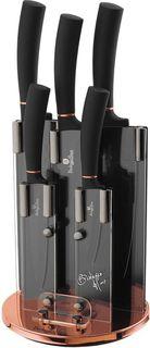Набор ножей Berlinger Haus Black Rose, на подставке, 6 предметов. 2336-BH