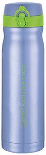 Термос Maestro, MR-1643-50, голубой, черный, 0,5 л