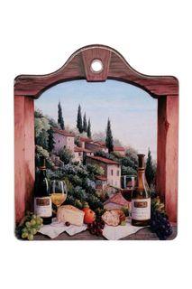 "Подставка под горячее GiftnHome ""Тоскана пейзаж"", с подвесом, 16 х 19 см"